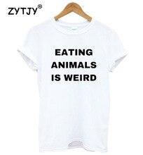 Eating animalis weird vegan t-shirt