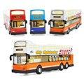 Сплав воин делюкс двухэтажный автобус экскурсионный автобус модель легкая музыка детские игрушки модель автомобиля подарок на день рождения