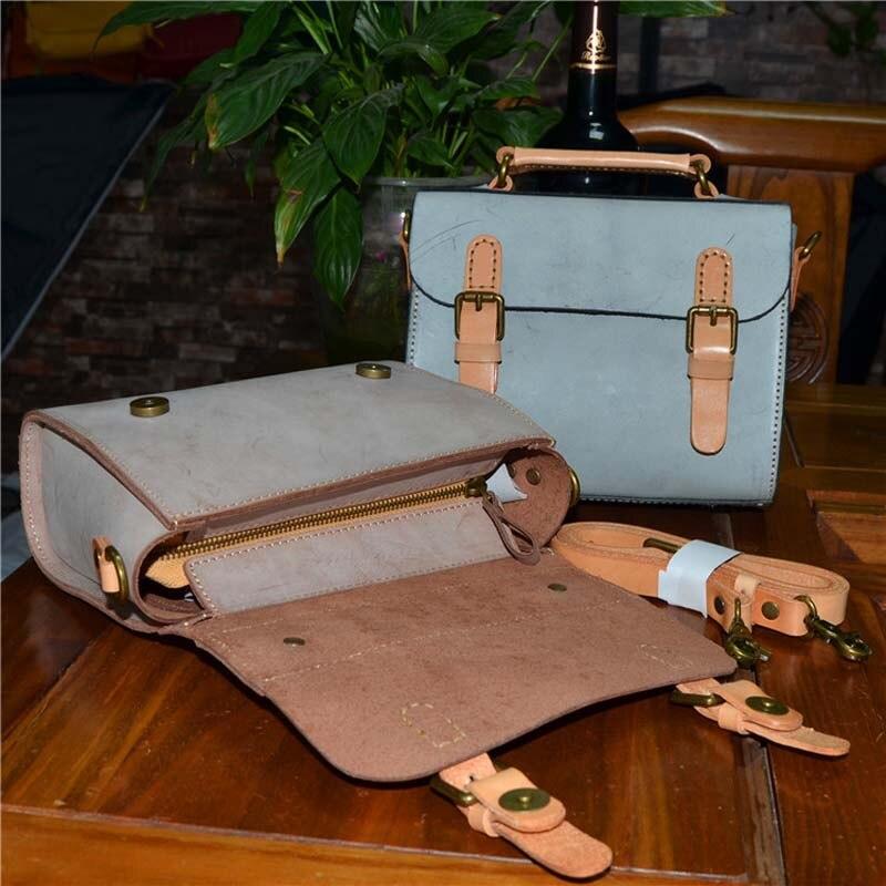 2018 explosion rétro cuir sacs à main blanc brouillard cire à la main hibiscus arbre sac en cuir sac Messenger sac