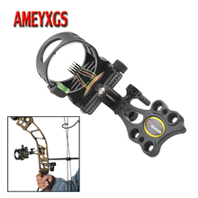 1pc Archery Compound Bow Sight 5 pins Adjustable Right/Left Hand For And Arrow Hunting Shooting Aiming Accessories