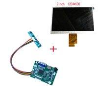 7 Inch Lcd Panel 1204 600 LCD Driver Board HDMI VGA AV 40pin 50pin