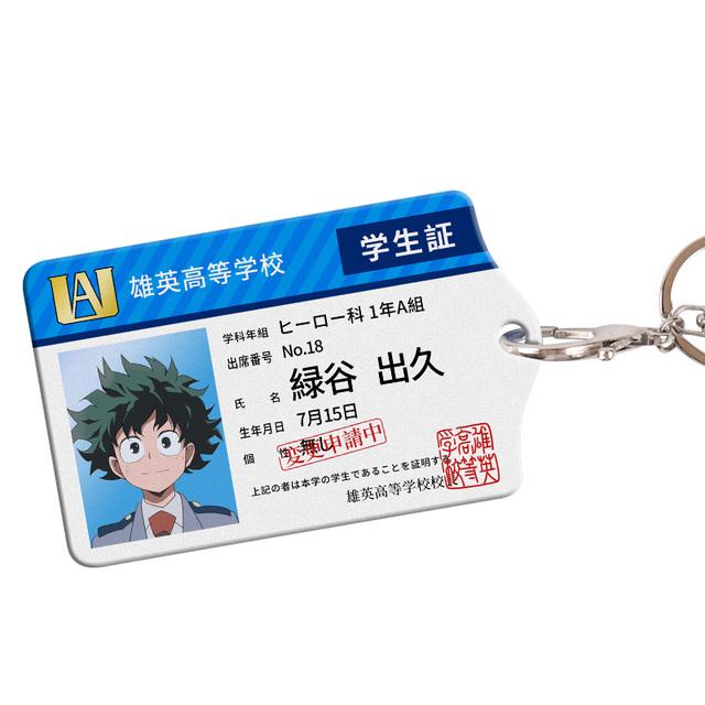 My Hero Academia Hero Card License Asui Tsuyu  Acrylic Cards Holder Keychain