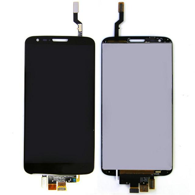 Para lg g2 optimus d802 d805 display lcd touch screen digitador assembléia original branco e preto em estoque
