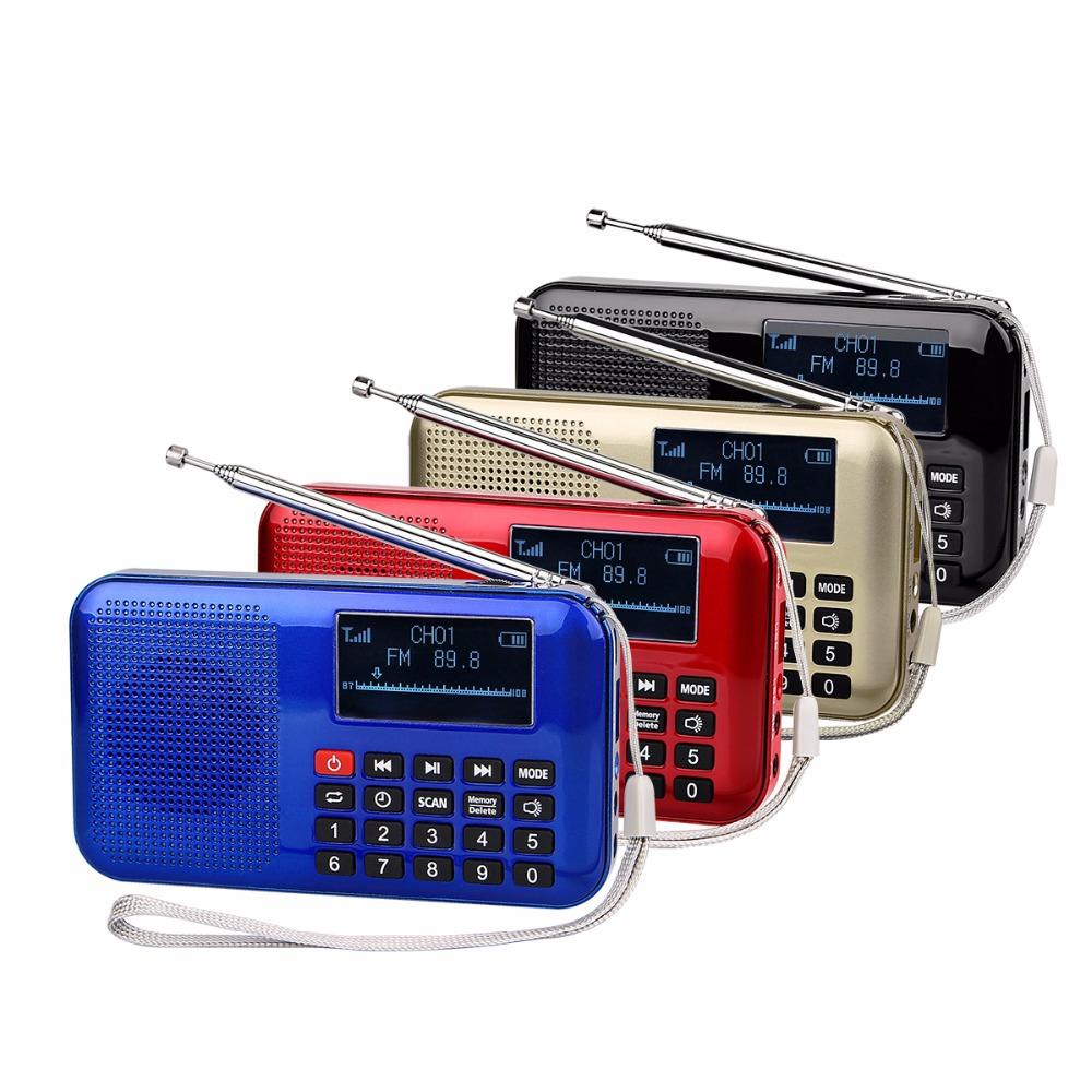 4 colors portable fm radio mp3 player multimedia speaker mini pocket radio receiver with. Black Bedroom Furniture Sets. Home Design Ideas