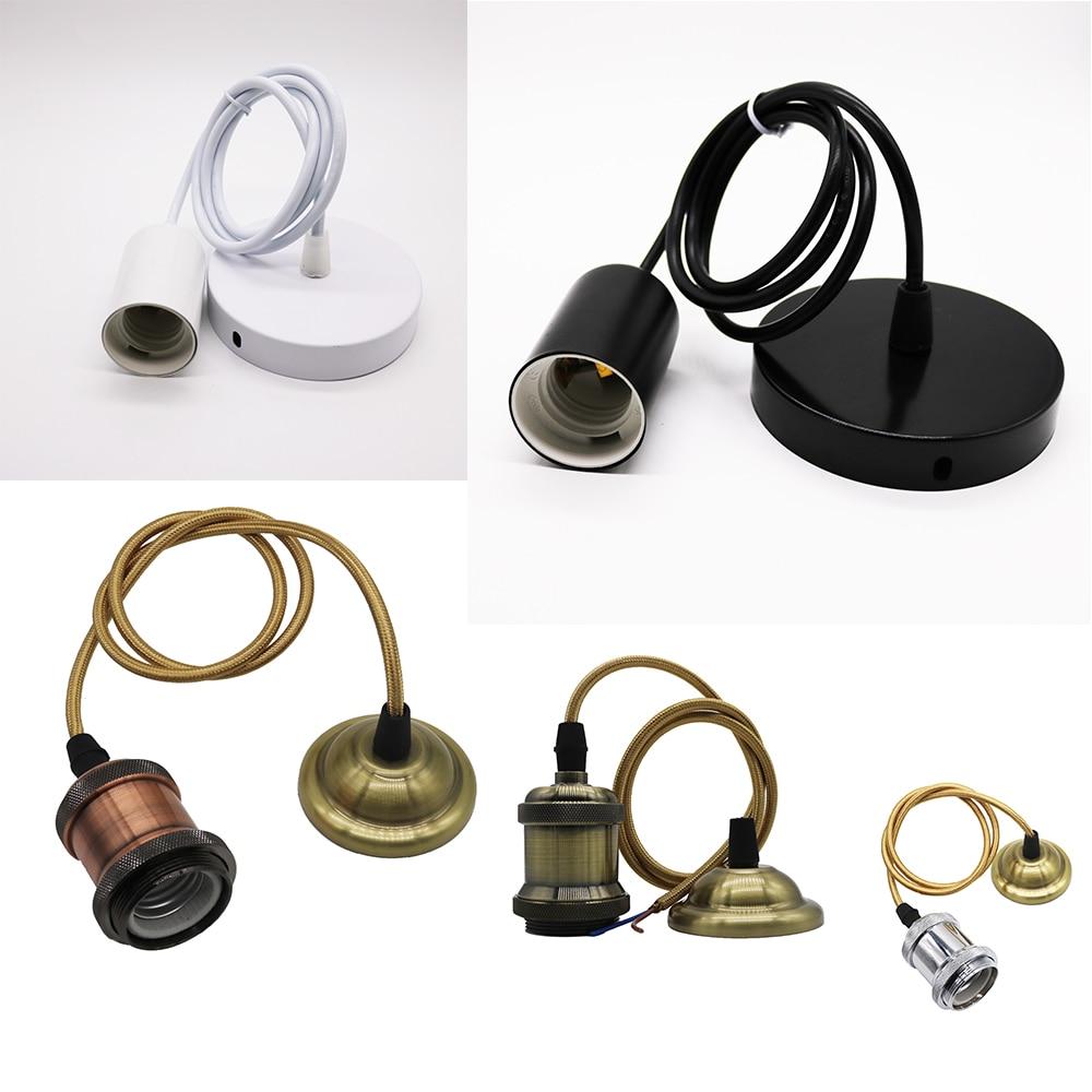 MengJay Aluminum Pendant Light E27 Lamp Holder For 110V 220V Led/Incandescent Edison Bulb Vintage Retro Decor Hanging Lamp