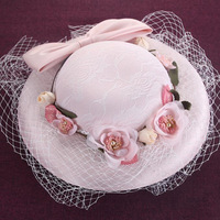 Very Beautiful Bride Veil 2018 Hot Selling Blusher Birdcage Tulle Ivory Wedding Hat With Tull And Flower