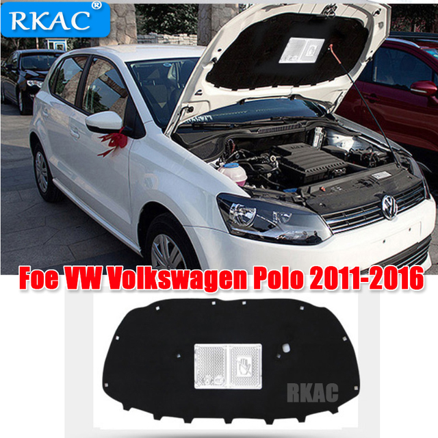 25f27fe47845 rkac 1 PCS for VW Volkswagen POLO 2011-2016 Engine hood insulation cotton  insulation cotton trunk lid liner accessories