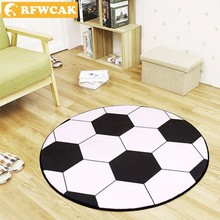 RFWCAK New Polyester Anti-slip Ball Round Carpet Computer Chair Pad Football Basketball Living Room Mat Children Bedroom Rugs