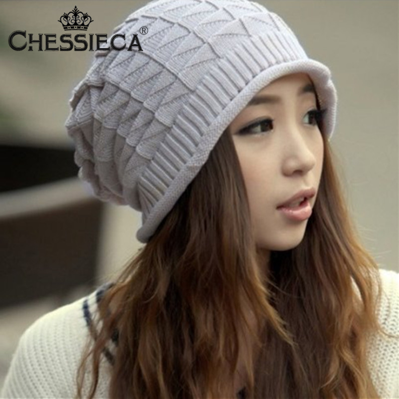 Hot Sale Autumn Fashion Thermal Knitted stretchable Hat keep warm cap Couples pure color Hats Winter Female Gorro skullies skullies hot sale female tide leather braids knitted cap autumn and winter women s curling ear warmers headgear 1866784