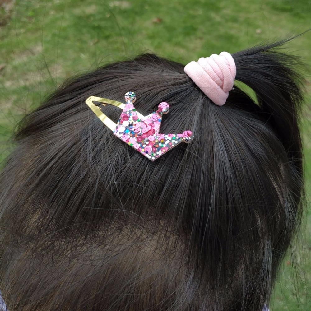 Star Shape Metal Children Snap Glitter Hair Clips Barrettes Girls Cute HairJM B