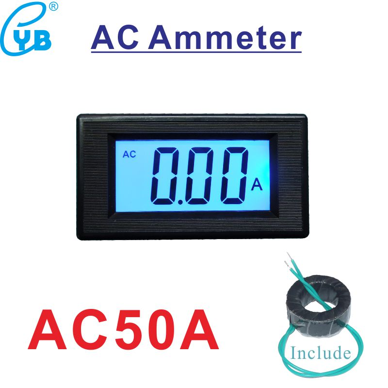 Dc Current Meter Dc5v 24v Dc Ac 8-12v Lcd Digital Ammeter Digital Current Meter Icl 7106 Ampere Meter Current Transformer 50a Current Meters
