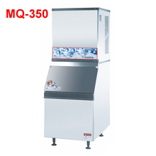 MQ-350 1550W Ice hose 350 kg / 24h ice maker machine r134a for ice maker maker / electric stainless steel ice maker 220V/50 Hz