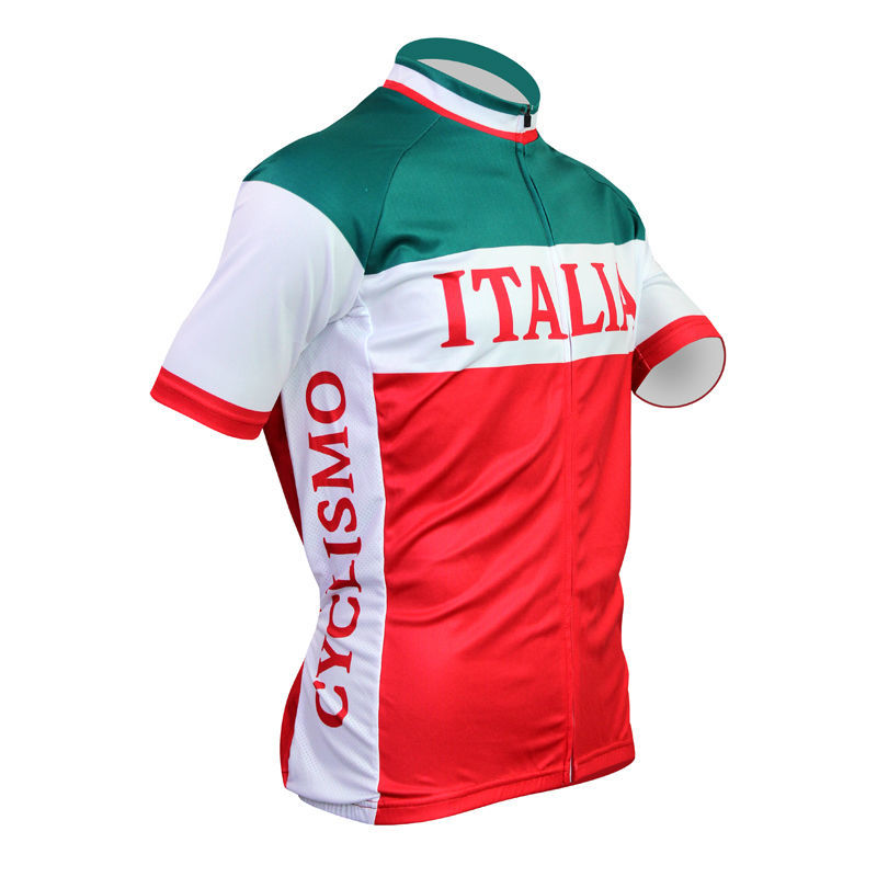 0e1544f7a cycling jerseys New Mens Cycling Jersey Comfortable Bike Bicycle Shirt  Italian flag logo Alien motoWear cyclingclothing Size 2