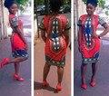 2016 Горячий Новый Dashiki Африканских Платья Африки Одежда Для Женщин Высокого Качества Индии Традиционные Национальные Цветочным Принтом WE70110