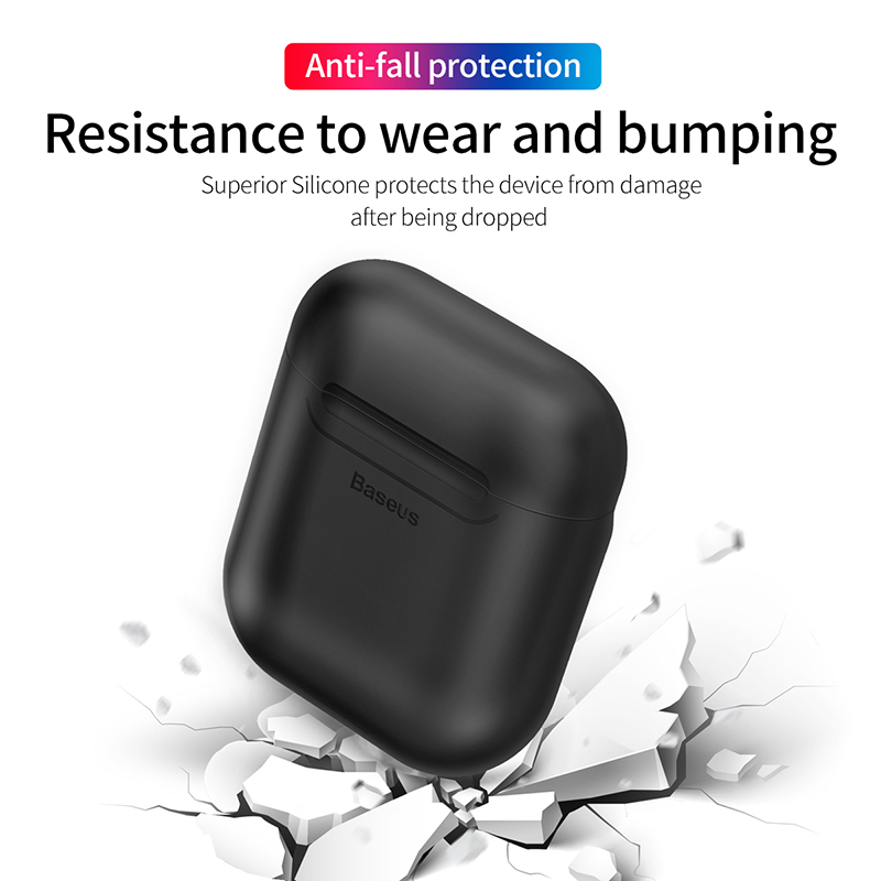 Baseus Wireless Charging Receiver Case For AirPods Silicone TPU Ultra Thin Case for Apple Airpods Support Wireless Charging 2