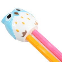 4Color Cute Owl Pattern Pen Pencil Sharpener Home School Kids Desk Stationery