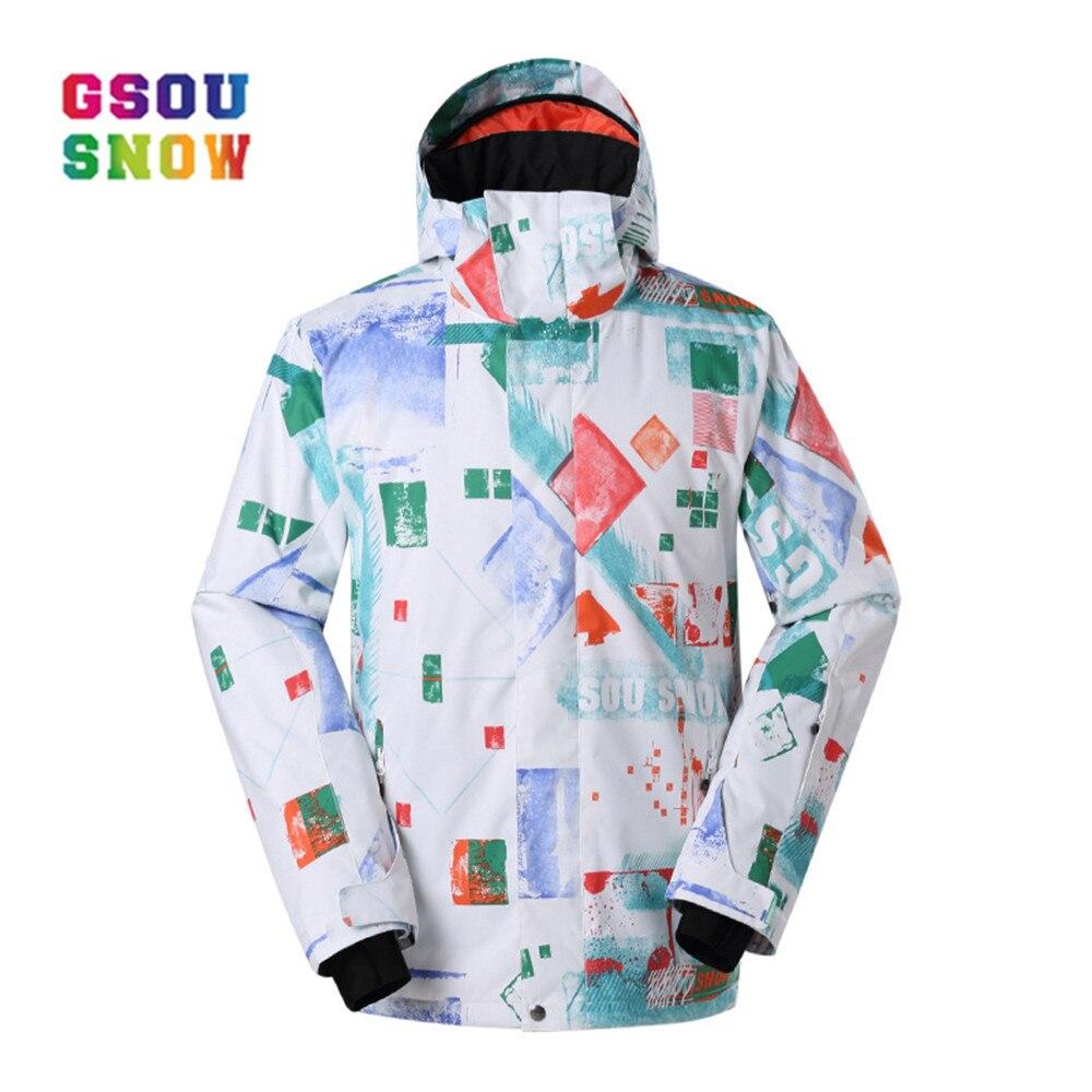 GSOU neige marque hiver veste de Ski homme Ski snowboard mode manteau de neige coupe-vent imperméable Sport de plein air qualité