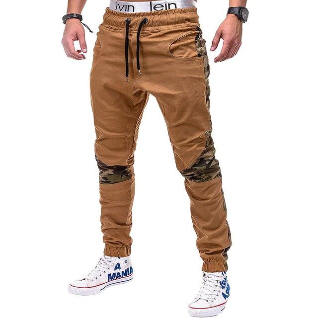 Camo Stitching Pants Hip-Hop Sweatpants 1