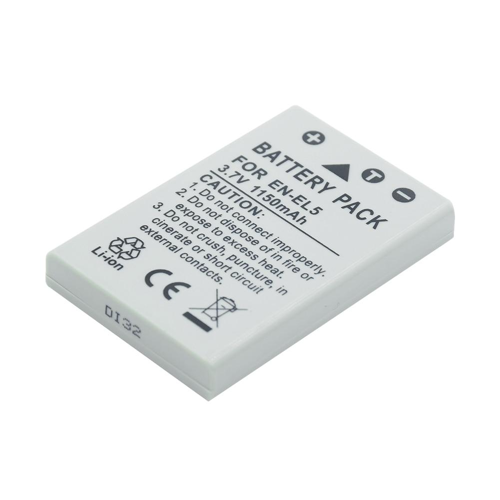 EN-EL5 EN EL5 ENEL5 Rechargeable Batterie pour Appareil Photo Nikon Coolpix 3700 4200 5200 P100 P3 P4 P500 P510 P5000 P5100 P6000 P80 P90