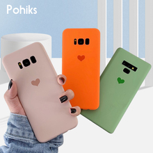 Pohokis Phone Case For Samsung Galaxy S10 Note 9 Simple Cute Soft TPU Love Heart Cover For Samsung Galaxy S10 S9 S8 plus Note 8 simple s10