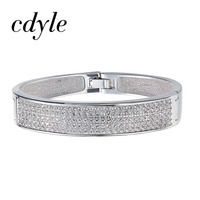 Cdyle Crystals from Swarovski Austrian Rhinestone Paved Bijoux Women Bracelets Bangles Engagement Wedding Fashion Jewelry Gift