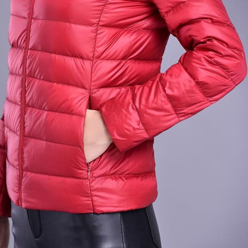XMY3DWX моды для женщин согреться Супер свет тонкий 90% Белая утка пуховик/женственность Стенд воротник Большой размер вниз пальто S-XXXL