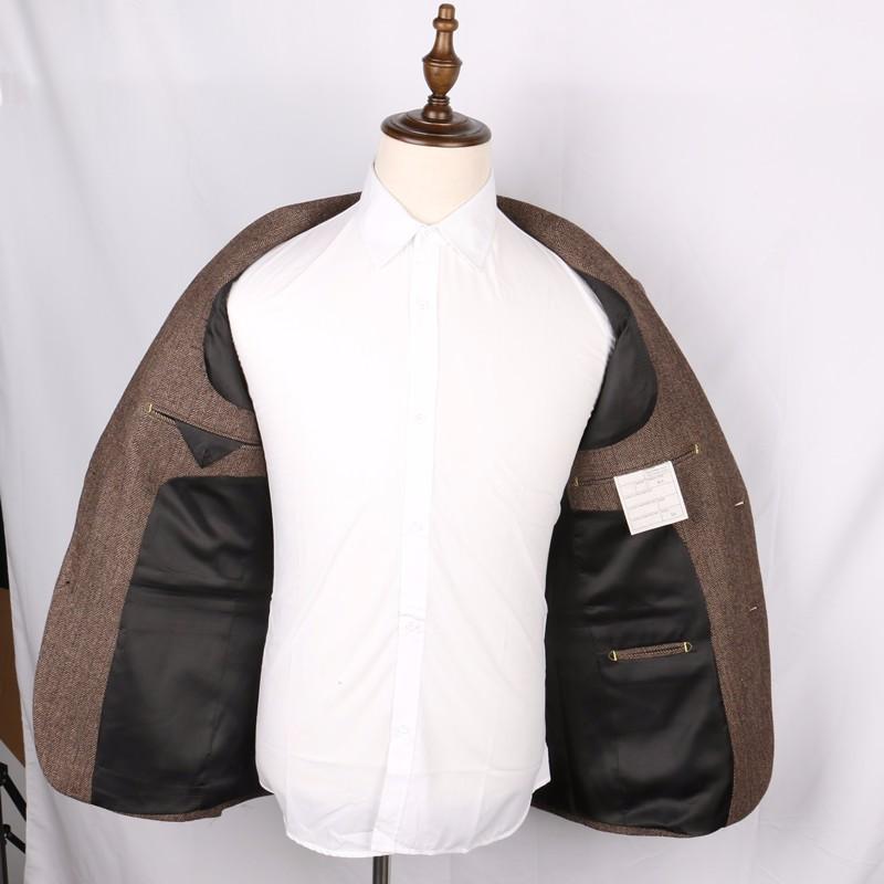 Wool-Brown-Herringbone-Suit-Jacket-Vintage-Style-Mens-Slim-Fit-Tweed-Check-Blazer-Jackets-2-Button-Long-Designer-Mens-Wedding-Wear(4)