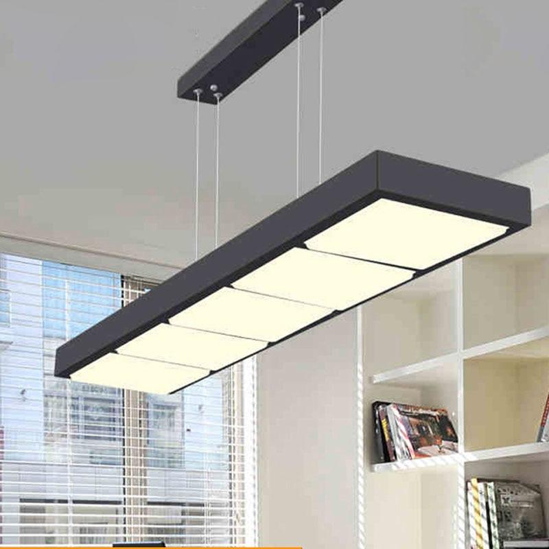 US $122.4 55% OFF|Akrylowe żyrandole pokój dzienny świeci nowoczesne proste hotel inżynierii światła żyrandole biurowe lampy sufitowe led lampa