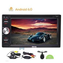 "6.2"" Double Din Android 6.0 Car DVD Player GPS Navigation in Dash Car Stereo System Audio Radio Video with Wireless Rear Camera"