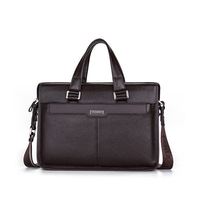100% GENUINE LEATHER cowhide Shoulder leisure men's bag business messenger portable briefcase Laptop 14 Handbag M0001