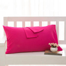 100%cotton solid color Pillowcase 9 color Hotel and Home Use pillow case Bedding 50x75cm 50x70 pillow cover Customize any size(China)