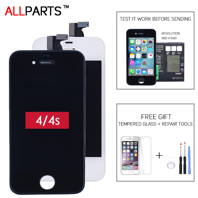 TESTED AAA Black White Original LCD For Apple iPhone 4 4S Screen Display with OEM Touch Screen Digitizer Assembly Replacement