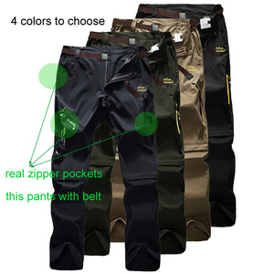 Image 3 - Full Removable Camping Hiking Pants Stretch Quick Dry Waterproof Trousers Outdoor Man Mountain Climbing/Fishing/Trekking Pants