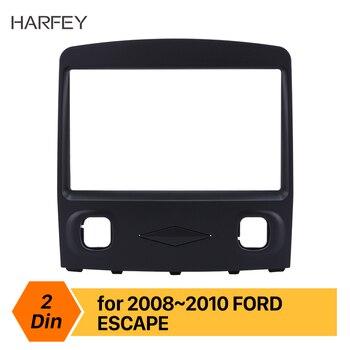 Harfey Preto 2Din Painel remontagem Fascia Rádio Do Carro traço kit Guarnição para Ford Escape Estéreo Interface de Placa Quadro kit de Instalação