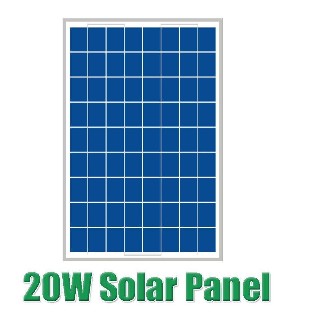 Prix pour Vente chaude 20 W 18 V silicium Polycristallin Panneau Solaire utilisé pour 12 V système photovoltaïque de la maison 20 Watt WY