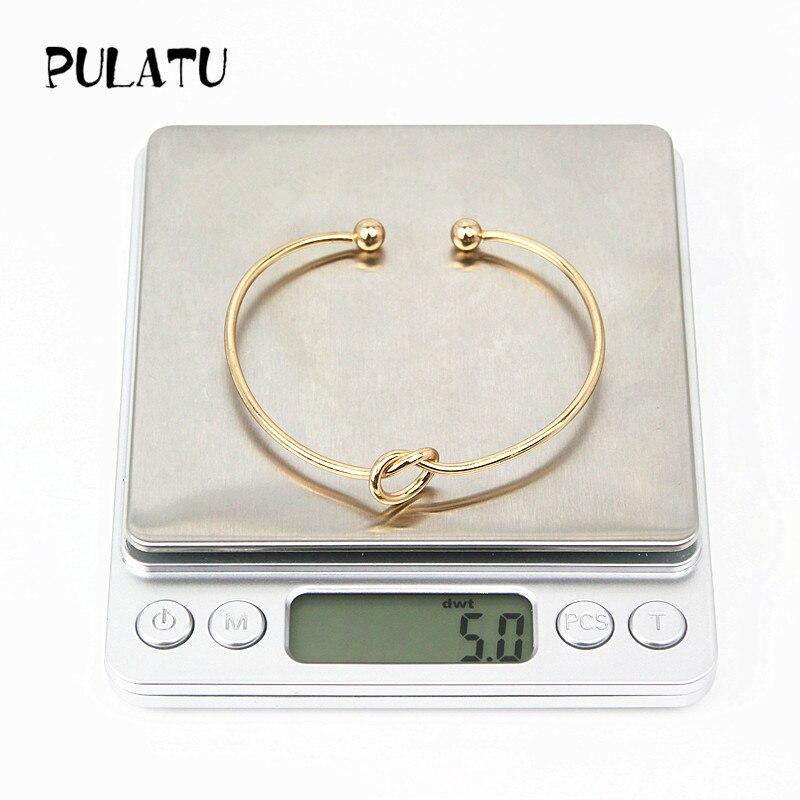 2 Цвет минималистский узел Браслеты для Для женщин открытым регулируемый браслет ювелирные изделия оптом pulatu sz0278