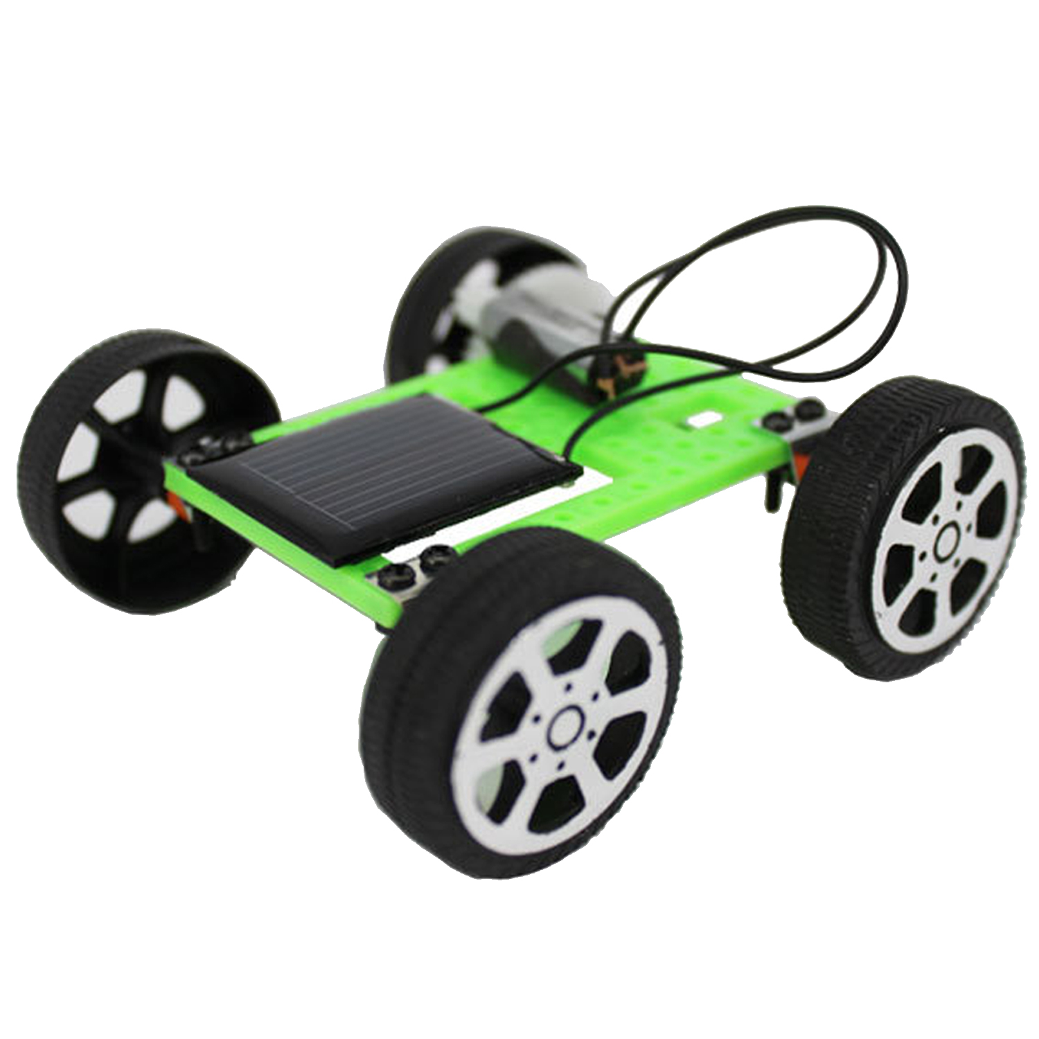 DIY Assemble Solar Energy Powered Car Toy Smallest Mini Solar Car Toys Set Science Educational Gadget Toy Kid's Toys