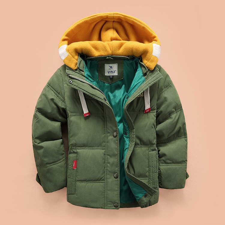 2017 new children Down coats Parkas  winter kids outerwear boys clothes casual warm hooded jacket for boys solid boys warm coats