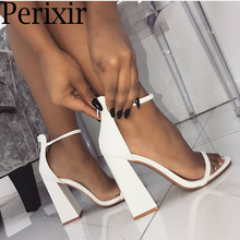 Купить с кэшбэком Perixir Women Pumps Fashion Heels Sandals For Women Summer Shoes Wedding Heels Women Buckle Strap High Heels Size 36-41