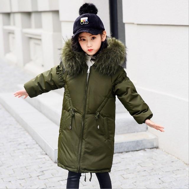 4b487cf6a812 girls jacket kids winter coat children teens clothing warm duck down ...