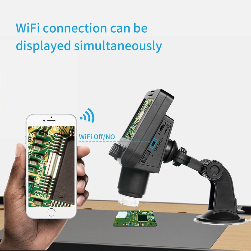 Wireless Digital Electronic Microscope 1000X WIFI Video Microscopes 4 3inch LCD 080P Magnifier Camera for Android
