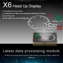 XUNMA Brand  Car HUD Head Up Display OBD2 II EUOBD Overspeed Warning System Projector Windshield Auto Electronic Voltage Alarm