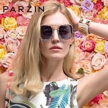 PARZIN Polarized Sunglasses Women Oversized Square TR90 Frame 2019 Retro Female Driving Glasses UV400