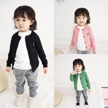 лучшая цена Spring Girls Cardigan Sweaters Children School Uniform Knitted Sweater Toddler Little Girl Long Sleeve Clothes baby boy outwear