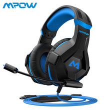 Mpow EG9 Stereo Gaming Headset 40mm Drivers With Mic In-Line Control RGB Gaming Headphones Soft Earpad For PS4 Switch PC Xbox original replacement repair part 32ohm 40mm speaker for onkyo es fc300 headphones diy 40mm titanium drivers include front cover