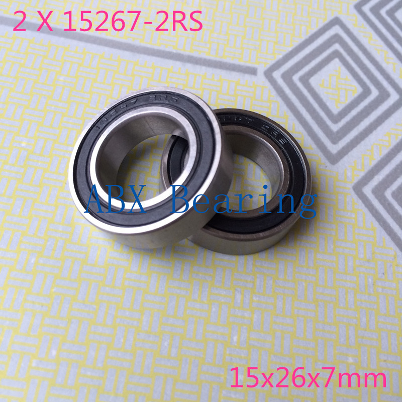 2pcs/lot 15267-2RS 15267RS  MR15267 15267 2RS GCR15 ball bearing 15x26x7mm bike wheels bottom bracket repair bearing 15267 2rs 15 26 7mm 15267rs si3n4 hybrid ceramic wheel hub bearing