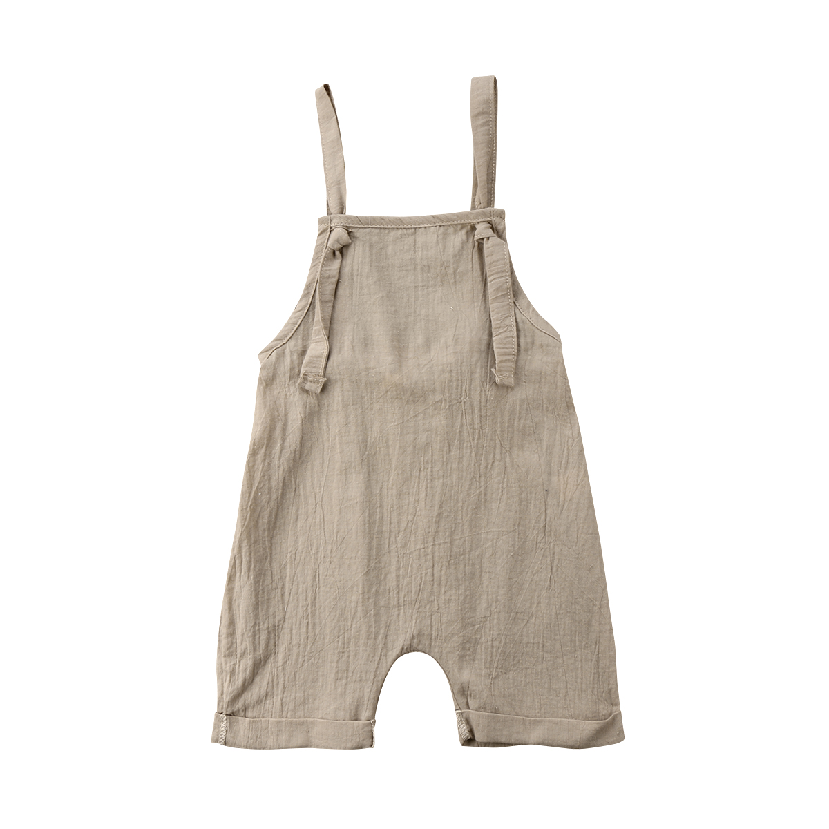 2018 Brand New Toddler Infant Newborn Kid Boy Girl Bib Pants   Romper   Jumpsuit Playsuit Outfit Solid Summer Clothes 0-3T