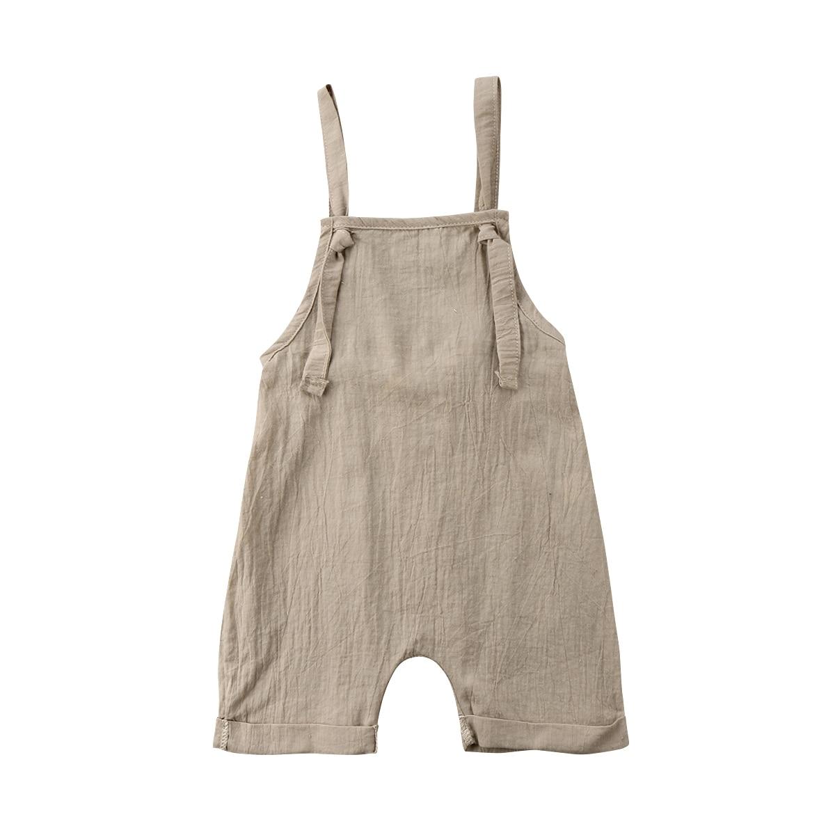 2018 Di Marca Nuovo Bambino Infantile Del Bambino Appena Nato Del Bambino Della Ragazza Del Ragazzo Tute Pantaloni Della Tuta Del Pagliaccetto Tutina Vestito Solido Vestiti Di Estate 0- 3 T