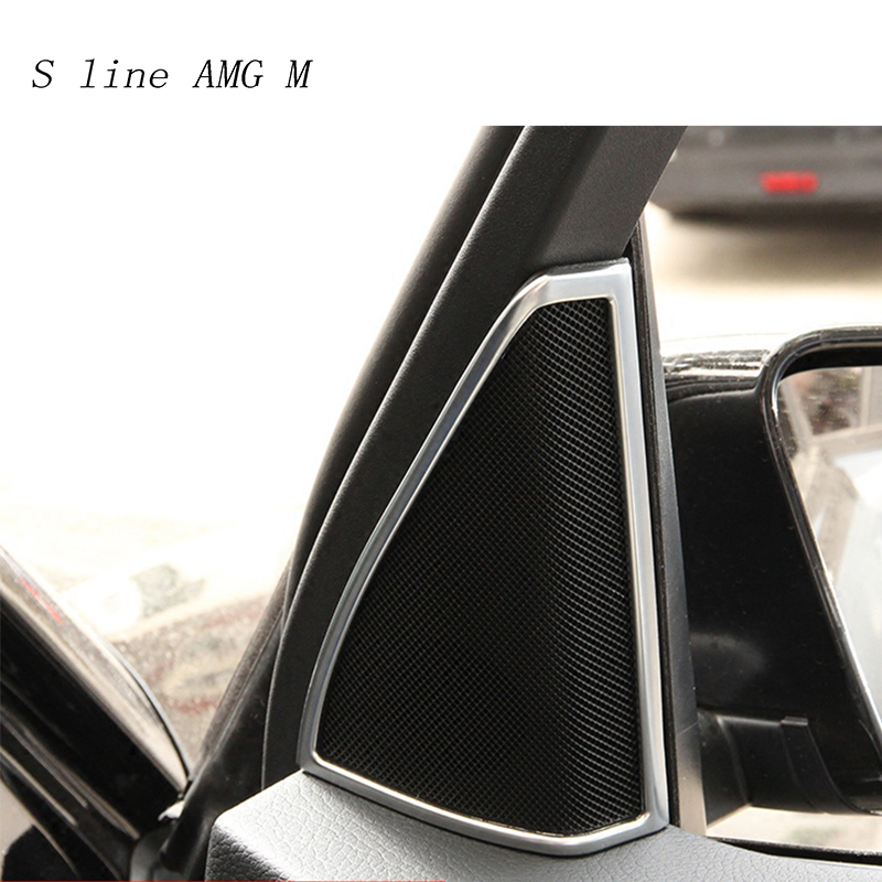 Car Styling Auto Audio Speaker Frame Decoration Sticker Covers Trim for Mercedes Benz GLK X204 200 260 Interior Auto Accessories image