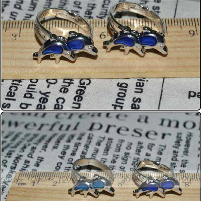 Baby Unisex Gifts Changing Color Emotion Feeling Mood Color Changeable alloy Ring Magic Christmas present Birthday Party  Favors
